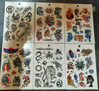 1x SHEET OF MEN'S BOYS TEMPORARY TATTOOS CHINESE TIGER BLACK TATTOOS UK SELLER