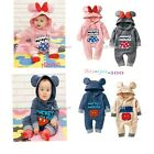 New Baby Boys Girls Cartoon Characters Costume Fleece Outfit One piece 6M-24M