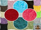 "Embossed Paisley Cuddle Fabrics / 58"" Wide / Sold by the yard"