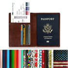 Leather RFID Blocking Passport Holder Credit Card Case Cover Travel Wallet