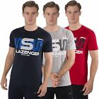 Slazenger Mens T shirt Sports short Sleeve Crew Neck Graphic Tee Top Size S-XXL