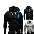 mens coats and jackets designer - Autumn And Winter Mens Top Fashion Design Casual Hooded Hoodies Zip Coat Jacket