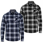 Brave Soul Mens Vivary Checked Shirt New Designer Chambray Detail Cotton Top