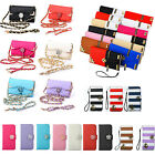 PU Leather Flip Card Holder Wallet Handbag Phone Case Cover For iPhone Samsung