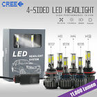120W 12000LM CREE LED Headlight Kit High Low Beam Bulbs 6000K White High Power
