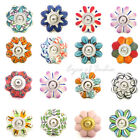 Ceramic Cabinet Door Cupboard Dresser Knobs Pulls Decorative Shabby Chic Colorfu