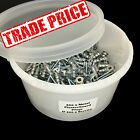 TUB OF 200 PLASTERBOARD METAL RAWL PLUGS & 200 SCREWS (32mm PLUG & 30mm SCREW)