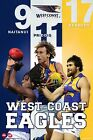 "AFL WEST COAST PLAYERS  POSTER ""LICENSED"" KENNEDY, NAITANUI, PRIDDIS"