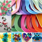 120 Strips Quilling Paper 10 Colors Mixed Origami Papercraft DIY Craft 3mm*390mm