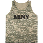 US Army tank top ACU digital camo shirt Army tee shirt United States Army men's