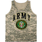 US Army tank top ACU digital camo tee shirt for men United States Army men's