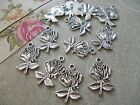 20 x English Roses, Emblem for England,Silver Tibetan Charms,Pendant,Rose
