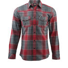Bell Duke Mens Long Sleeve Shirt Cotton Casual Stylish Red Check GhostBikes