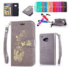 New Butterfly Pattern Leather Card Stand Holder Wallet Flip Cover Case For HTC