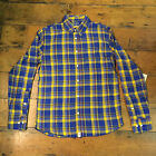 Altamont New Long Sleeve Checkered Shirt Blue Yellow size S M L