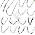 New 1pcs Girls Women Fashion Jewelry Sterling Silver Chain Necklace 45 Styles