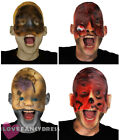 HALF FACE HORROR MASK LATEX HALLOWEEN FANCY DRESS COSTUME ACCESSORY 4 STYLES