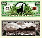 Howling Wolf Million Dollar Bill (Pick Quantity 5 to 5000 Bills)