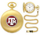 Texas A&M Aggies Pocket Watch Gold or Silver