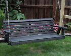 Amish Heavy Duty 800 Lb Roll Back 4ft Porch Garden Swing With Cupholders-USA