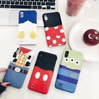 Cartoon cute disney Minnie mickey Donald card case cover for iphone 7 plus 6 6S