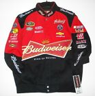 Nascar Kevin Harvick Budweiser Bud  Cotton jacket new JH Design Black And Red