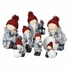 Ceramic Christmas Collectible Boy/Girl Figurines Indoor Home Xmas Decorations