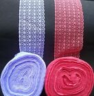 WIDE 5 LACE IN 1 RIBBON TRIM SEWING ART CRAFT Wedding CARD BRIDAL DRESS EDGE