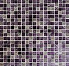 Mosaik Fliese Glasmosaik Natursteinmosaik/Resin mix lila matt Wand - 92-1107_b