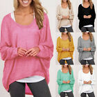 Women Oversized Knitted Sweater Batwing Sleeve Tops Cardigan Loose Jumper Coats