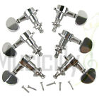 Musiclily 3L3R Chrome Guitar Sealed String Machine Heads Tuning Pegs Tuners Set