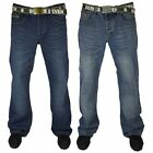 Loyalty & Faith Mens Designer Bootcut Button Fly Denim Jeans With Free Belt