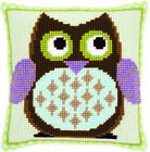 Vervaco PN-0147157 | Large Hole Canvas Mister Owl Cushion Front Cross Stitch Kit