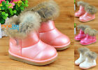 Cute Winter Kids Girls Boots Shoes Toddler Princess Warm Snow Boots Soft Sole