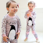 "Vaenait Baby Infant Toddler Kids Girls Clothes Pyjama Set ""Cozy Penguin"" 12M-7T"