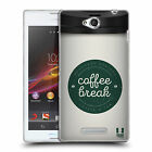 HEAD CASE DESIGNS COFFEE CUPS SOFT GEL CASE FOR SONY PHONES 3