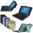 For AT&T Trek 2 HD 8-inch (6461A) Bluetooth Keyboard PU leather Folio Case Cover