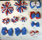 Chicago Cubs Themed Hair Bows Korkers Classic Bottle Caps U-Pick