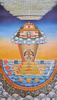 "26"" BLESSED SILKPRINT THANGKA TAPESTRY SCROLL: MT. SUMERU MAP OF BUDDHISM WORLD"