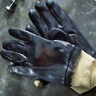 "Ansell Edge 40-402 nitrile fully coated ""tough"" gloves with knitted wrists sz 10"