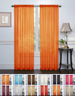 2 Pack: Halloween Themed Sheer Curtains by Regal Home Collections - Asst. Colors