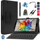 Folio PU Leather Case Cover+Bluetooth Keyboard Accessory Kit for LG G Pad X 8.0