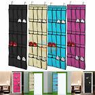 20 Pocket Over the Door Hanging Shoe Organizer Space Saver Rack Storage