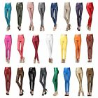 Women Faux Leather Stretchy Skinny Leggings Pencil Party Pants Clubwear Trousers