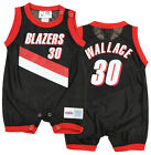 NBA Infant Portland Trail Blazers Rasheed Wallace #30 Retro Romper, Black