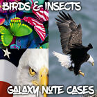 Cases For Samsung Galaxy Note 2 3 4 5 - Birds and Insect Pictures