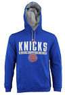 Adidas NBA Men's New York Knicks Tipoff Playbook Pullover Hoodie, Blue