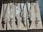 UNIQUE SOLID METAL REPLICA M16 PISTOL REVOLVER HAND GUN NECKLACE KEYRING UNISEX