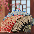 Wedding Spanish Style Lace Silk Folding Hand Held Flower Fan Dance Party