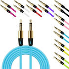 3.5mm Auxiliary Male to Male Flat Car Stereo Audio AUX Cord Cable For MP3 PC